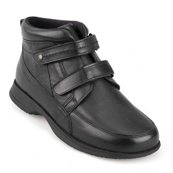 Green Comfort kort støvle med stretch , stødabsorberende indersål og to velcro bånd.