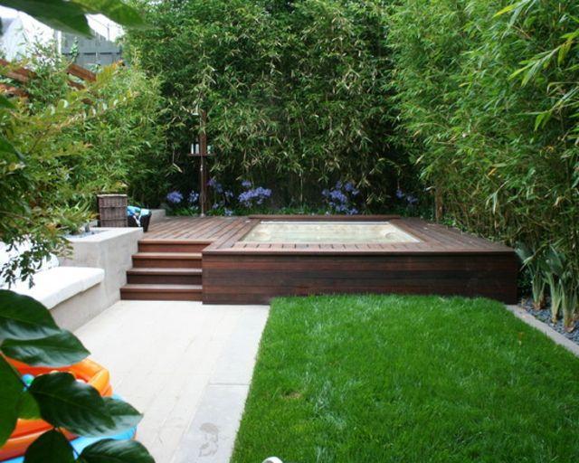 Planter des bambous dans son jardin - quelle bonne idée! Jacuzzi - amenagement jardin avec spa