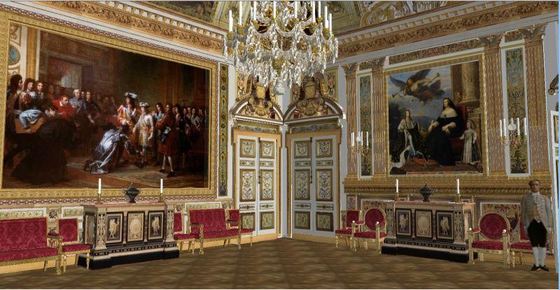 SALON DE LOUIS XIV  pièce utilisée comme Salle à Manger sous le