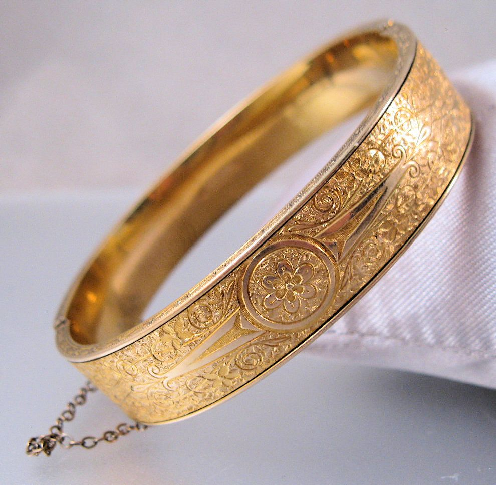 vintage inches s bangles youtube solid gold bangle men long nugget bracelet yellow watch