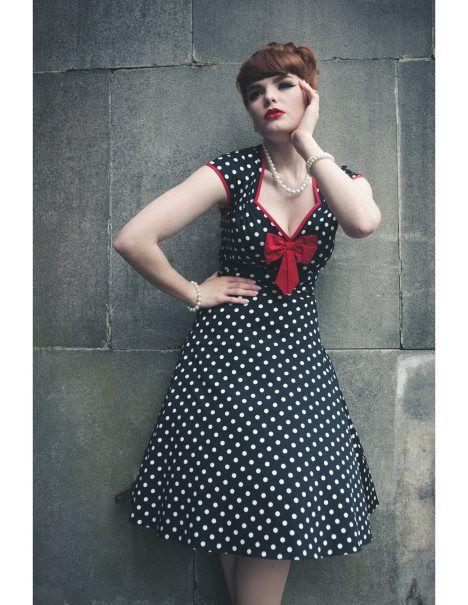 Lady V London – charmante Vintage Kleider aus England | Black polka ...