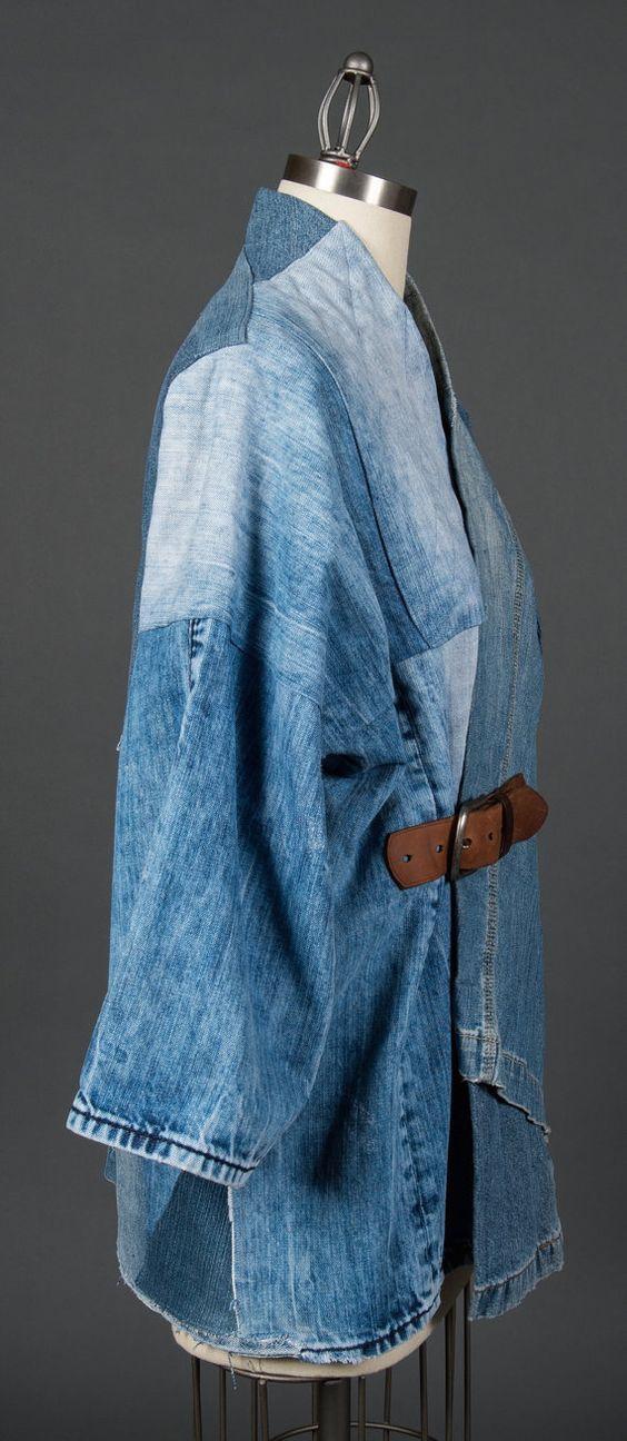 Джинсовые пэчворк пальто подборка Переделка джинсов