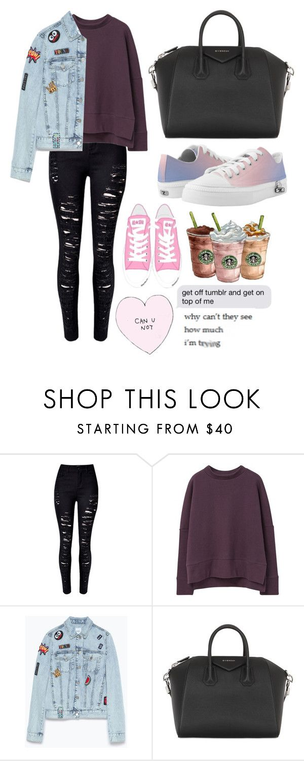"""""""OOTD #86"""" by amyjayneholls ❤ liked on Polyvore featuring MANGO, Zara, Givenchy, Zipz, women's clothing, women, female, woman, misses and juniors"""