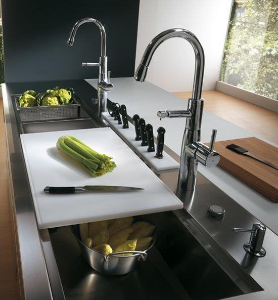 italian kitchen design workspace - Italian Kitchen Design Sinks
