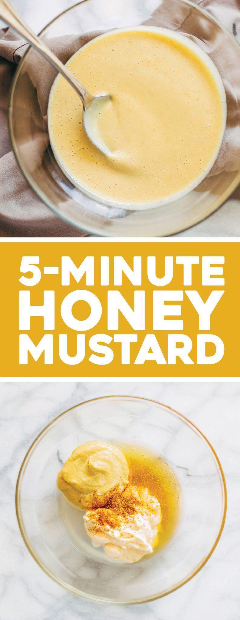 5 Minute Honey Mustard Sauce - Pinch of Yum