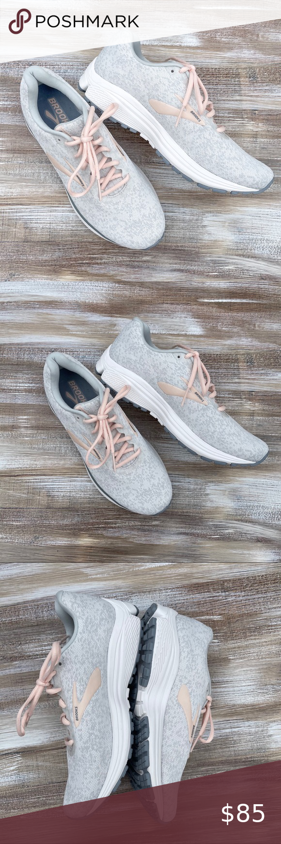 Anthem Silver Sneakers : anthem, silver, sneakers, BROOKS, Anthem, Running, Sneakers, Women,, Shoes,, Leather, Leggings