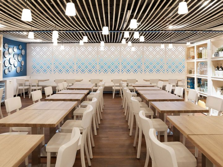 Azzurro Restaurant By Andrin Schweizer Company Zurich The Concept Comes From Name Of