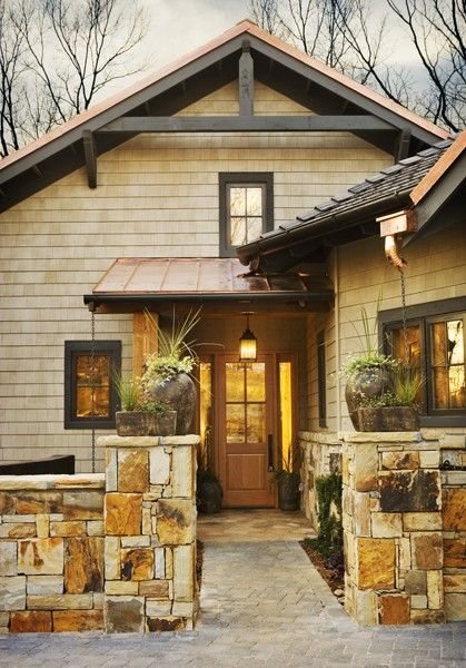 Pin By Myrna Bringas Gonzales A Woma On Enter And Exit House Exterior Copper Roof Home