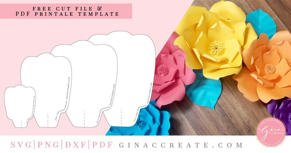 Free Paper Flower Template | Projects to try | Free paper