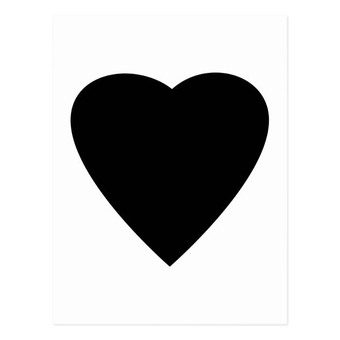 A black heart on a white background.
