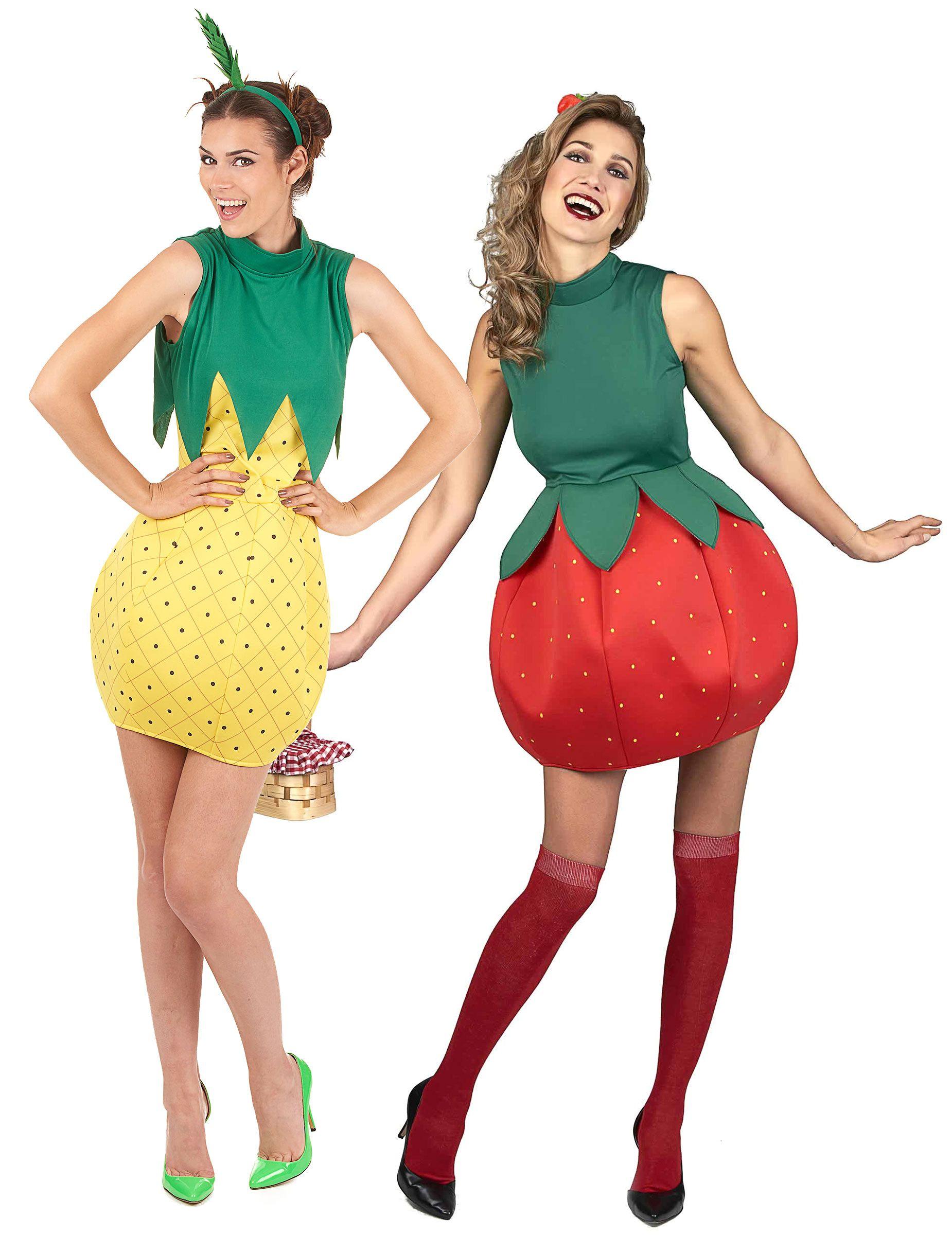 qualità del marchio davvero comodo ultimo sconto Costume coppia di frutta fragola e ananas per donna nel 2019 ...