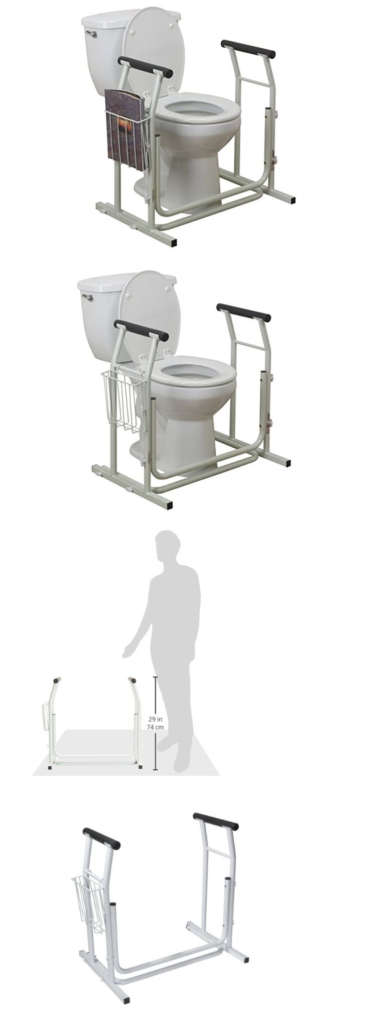Handles and Rails: Driver Medical Toilet Safety Rail Grab Bars For ...