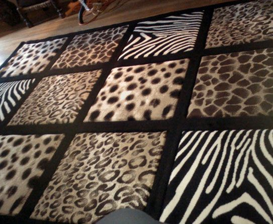 Large Area Rug With Leopard Zebra Cheetah Print Ft X Ft