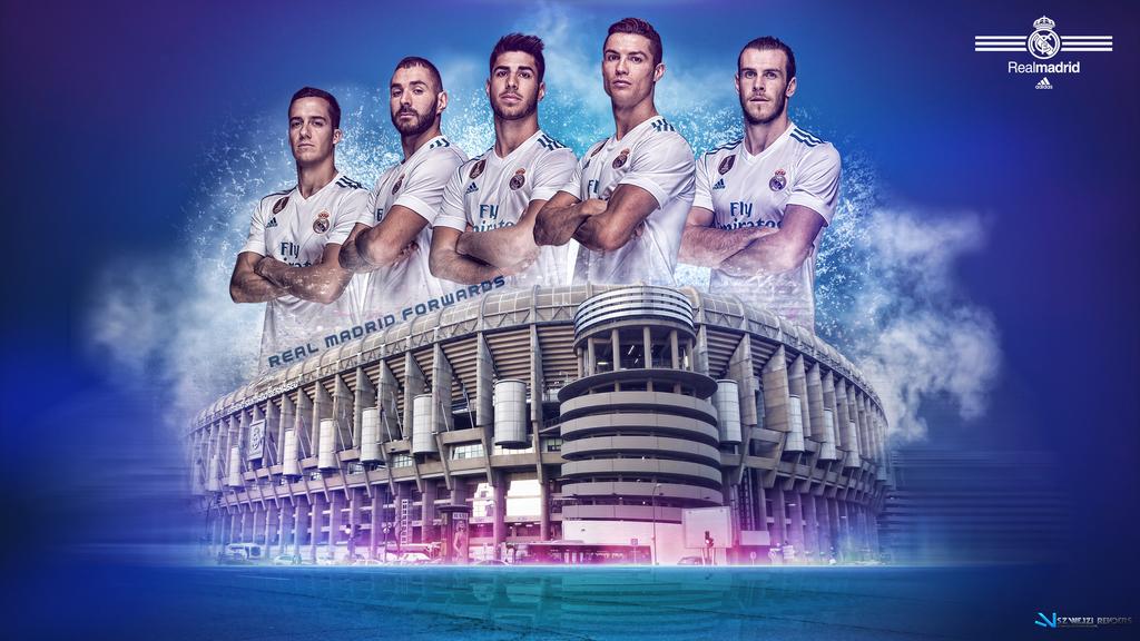 Real Madrid Forwards 2017 2018 Wallpaper By Szwejzi Real Madrid Wallpapers Real Madrid Madrid Wallpaper