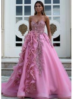 Luxus Abendkleider Lang Rosa | Abendmoden Online Kaufen ...