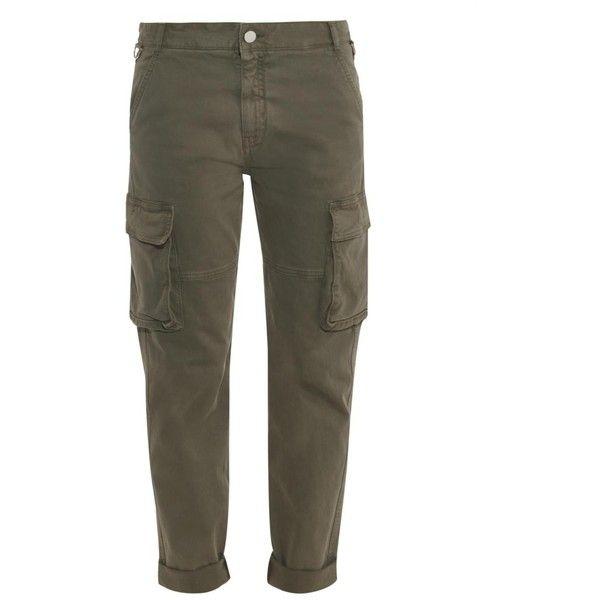 Stella McCartney Cargo-pocket boyfriend jeans (2.745 ARS) ❤ liked on  Polyvore featuring 106516922c9e