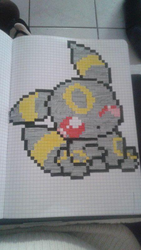 Noctali Dessin Pixel Pixel Art Pokemon Et Pixel Art Anime