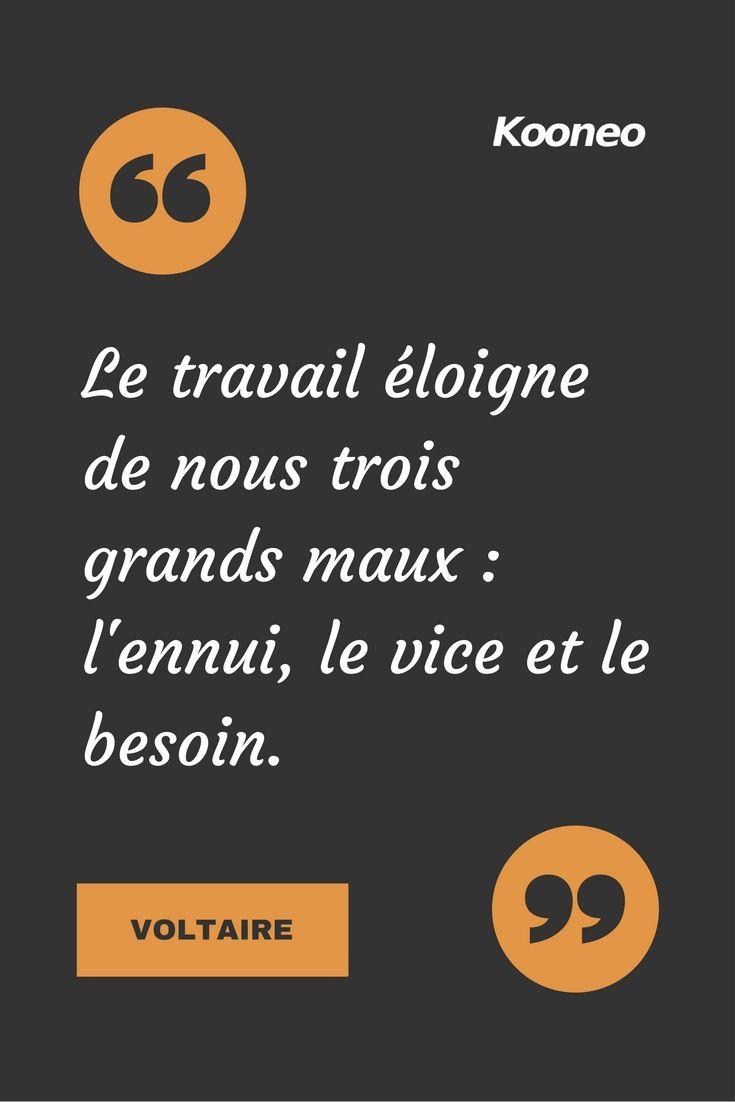 Citations Le Travail Eloigne De Nous Trois Grands Maux L Ennui