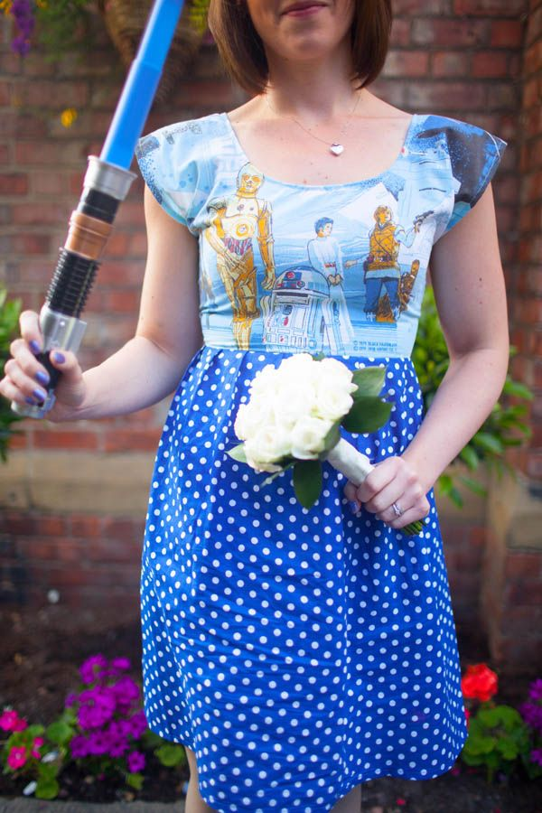 A Movie Themed Wedding: Amy & Phil star wars bridesmaids dresses ...