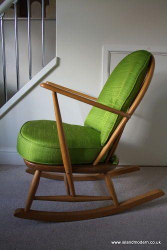 Fantastic Vintage 1950S 60S Ercol Windsor Rocking Chair Blonde New Uwap Interior Chair Design Uwaporg
