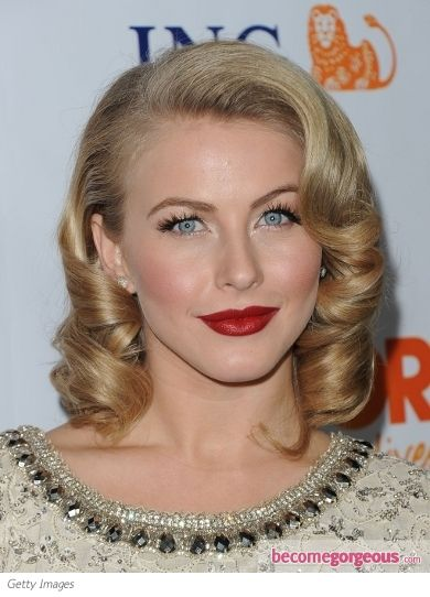 retro curls. pretty as can be!