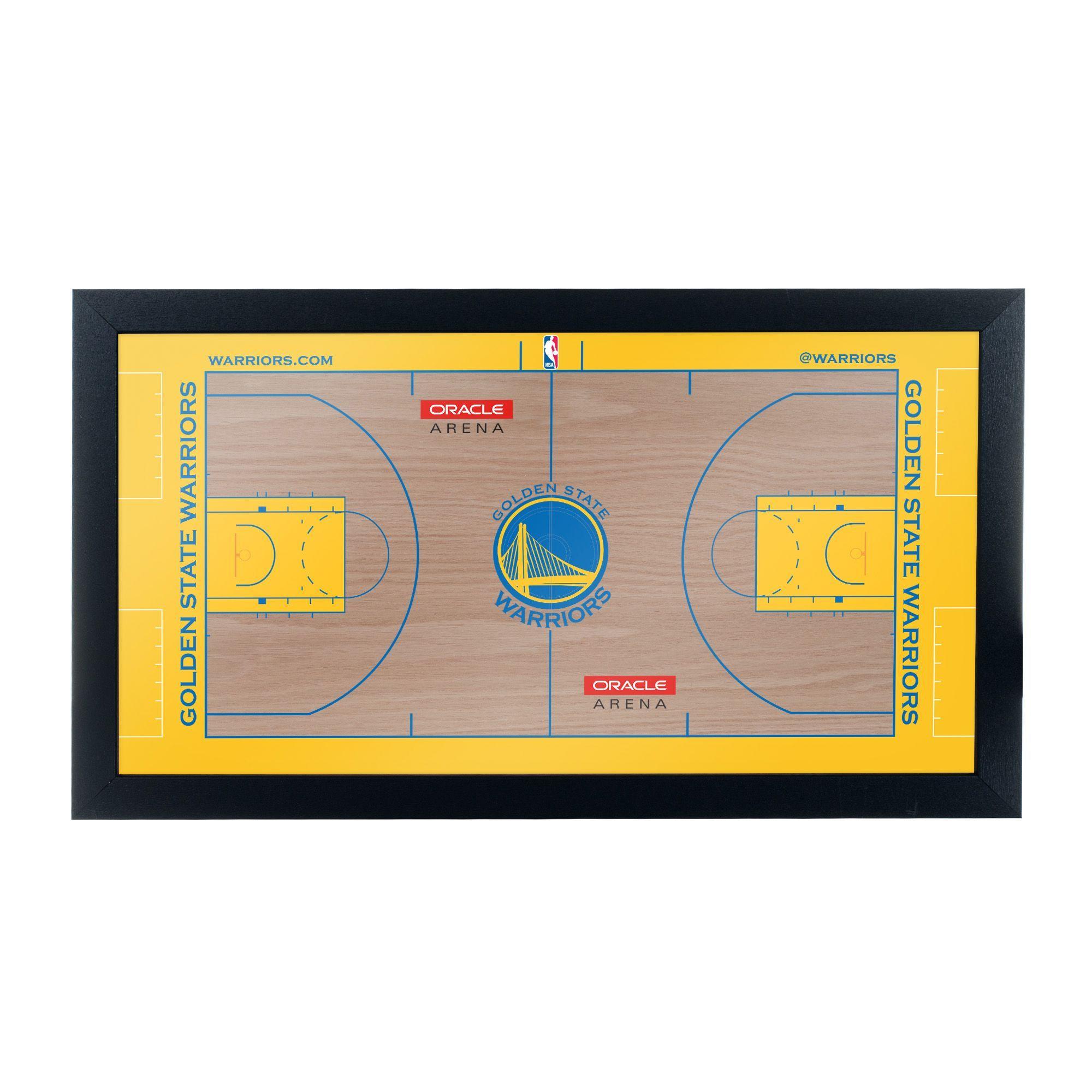 Trademark Gameroom Golden State Warriors Official NBA Court Framed Plaque