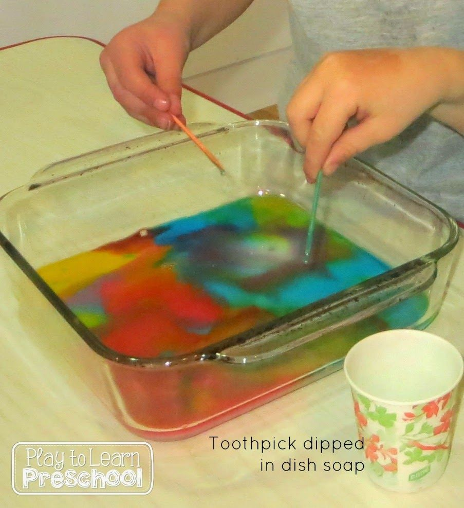 Mixing Colors - Colorful Milk experiment - Play to Learn Preschool ...