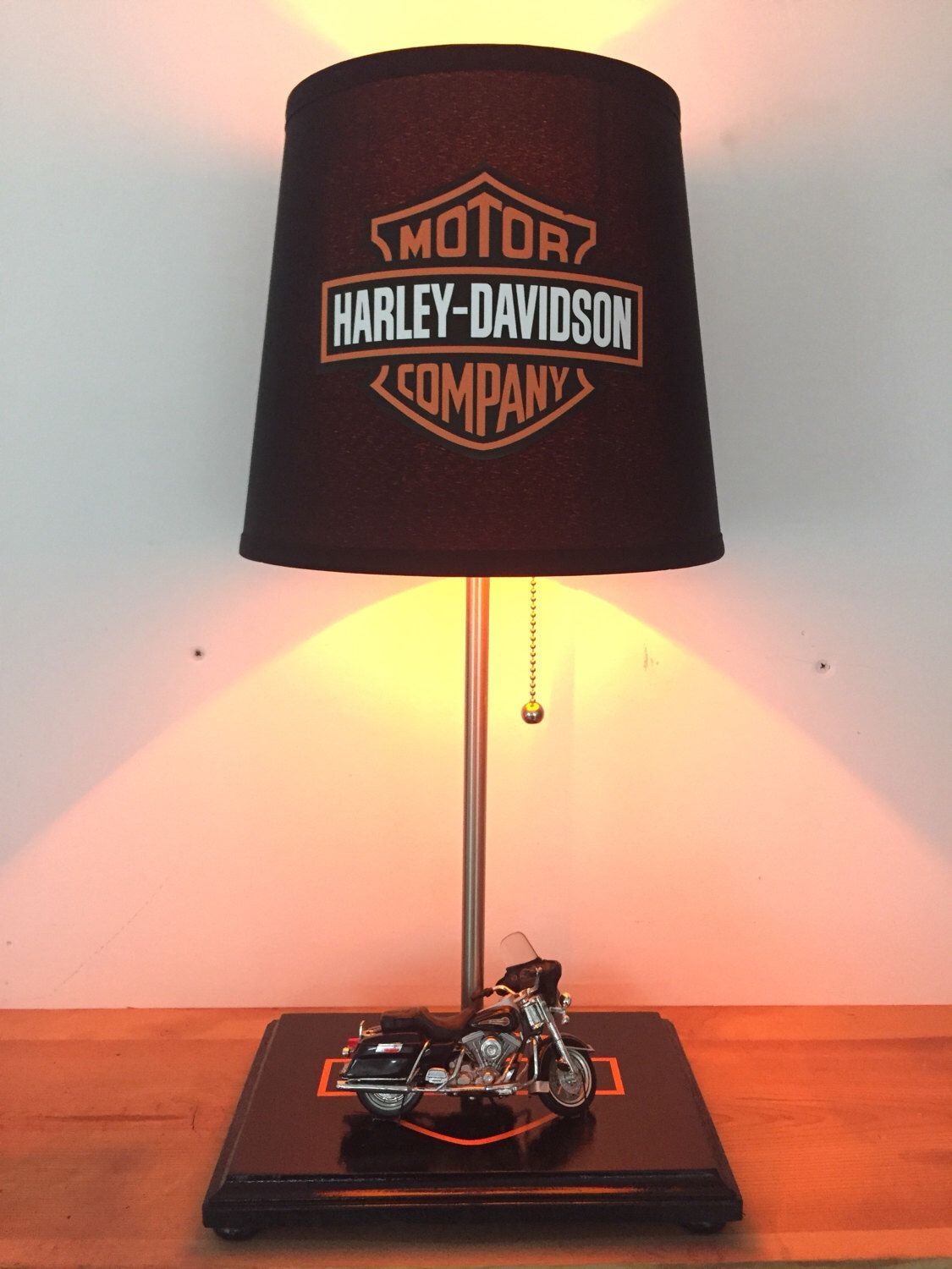 Harley Davidson Motorcycle Lamp, Biker Light, Table Lamp, Home Decor,  Harley