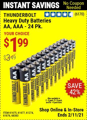 Thunderbolt Heavy Duty Batteries For 1 99 In 2021 Harbor Freight Tools Heavy Duty Thunderbolt