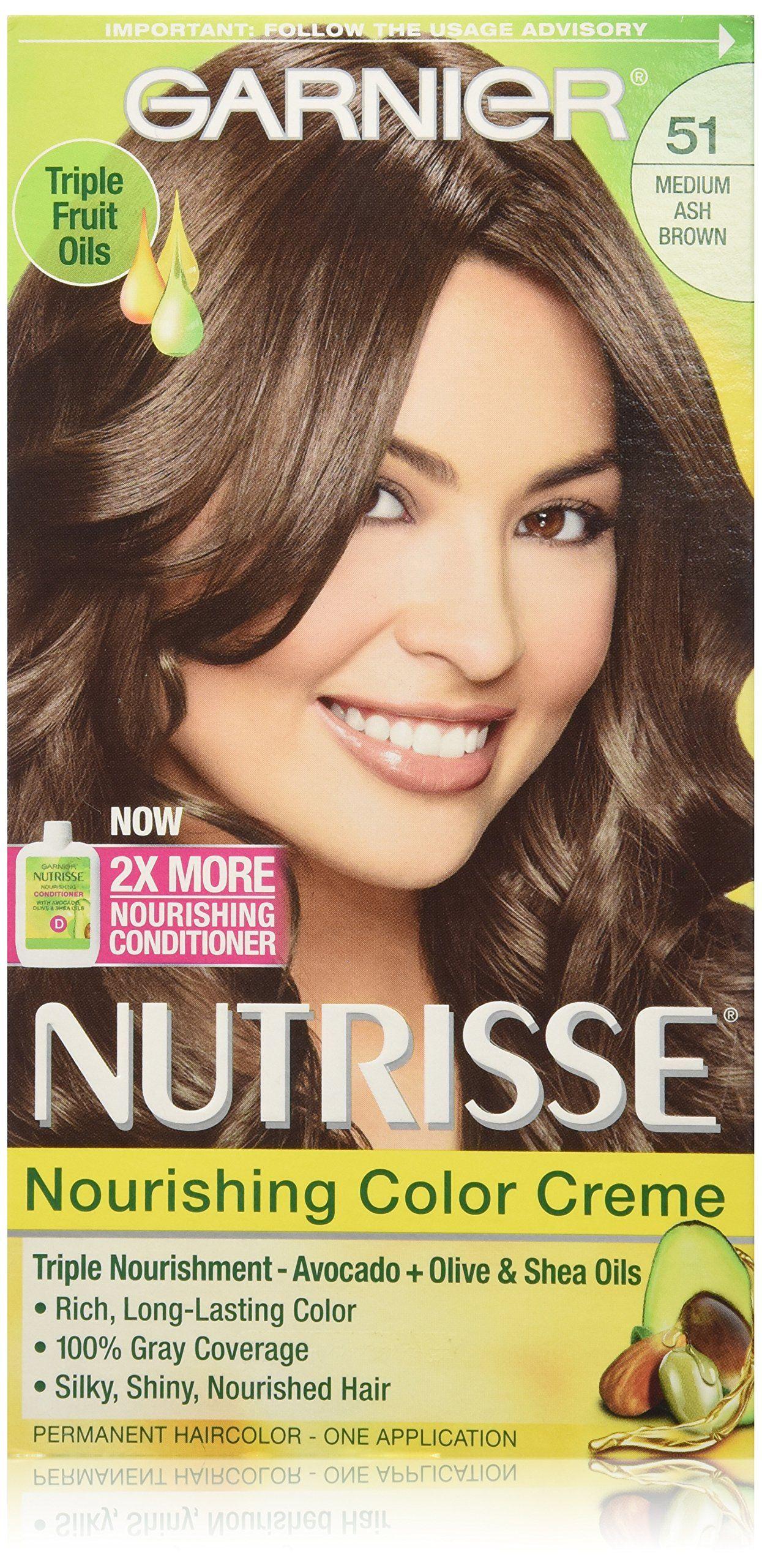Garnier Nutrisse Nourishing Color Creme 51 Medium Ash Brown Hair
