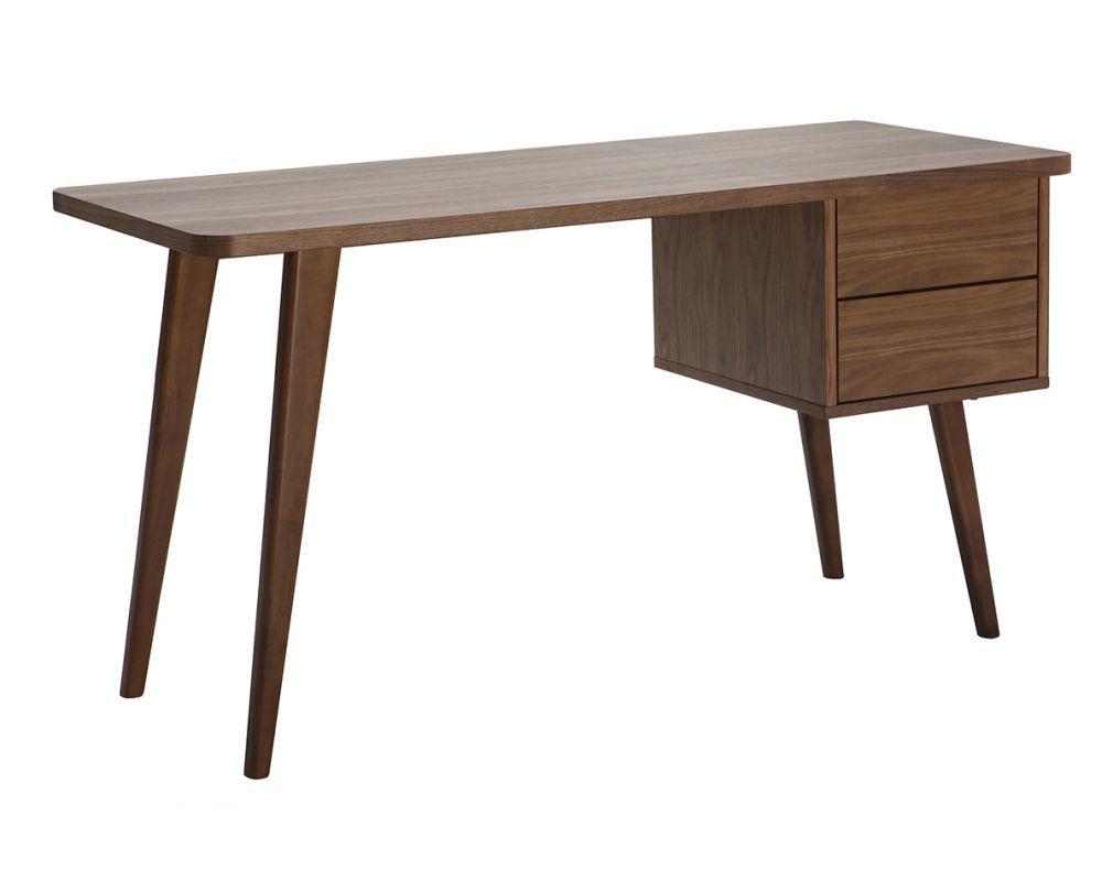 Bureau Design Noyer L140 Cm Fifties Bureau Design Deco Bureau Et Meuble Design
