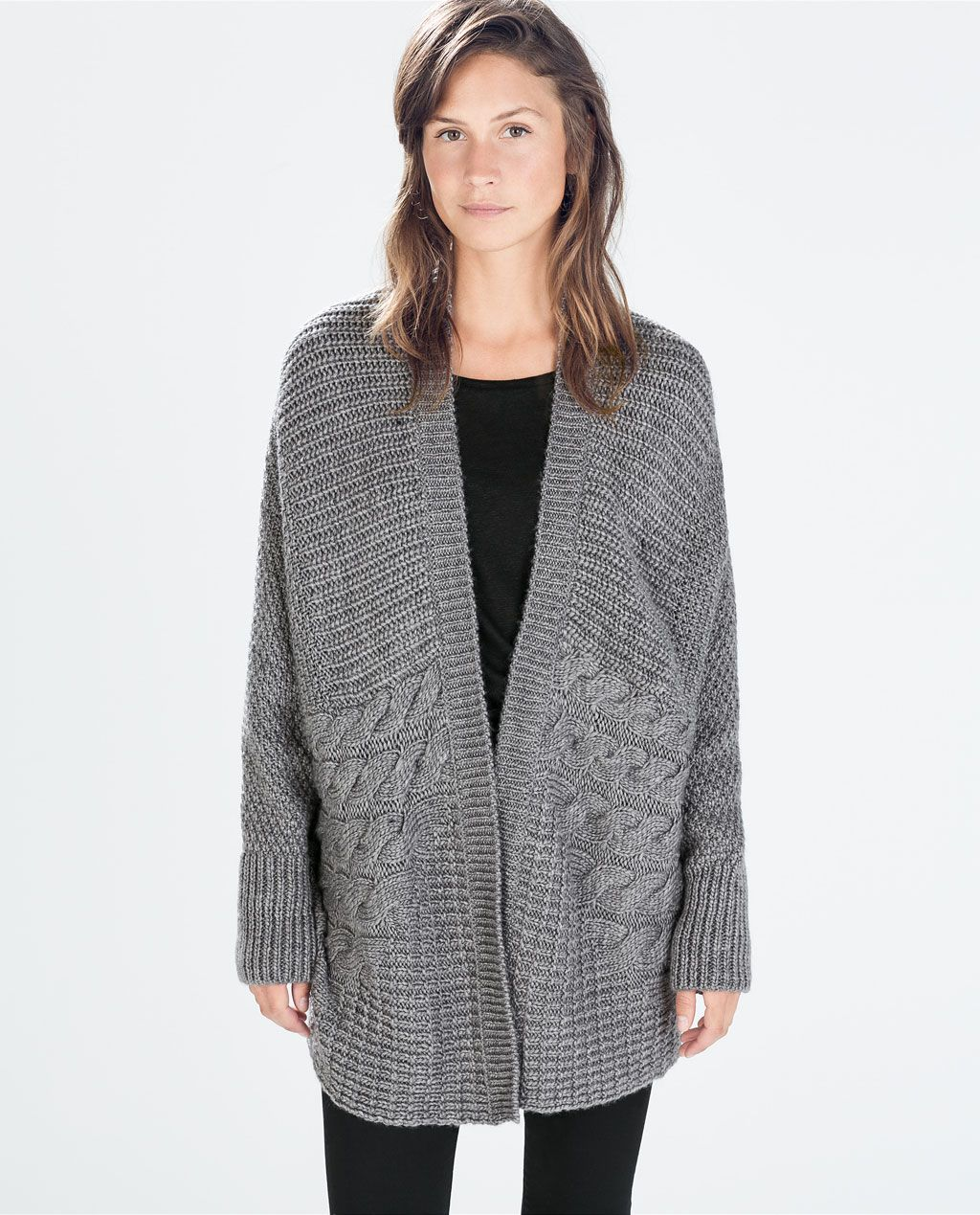 ZARA - NEW THIS WEEK - OVERSIZE CABLE KNIT CARDIGAN. Autumn/Winter ...