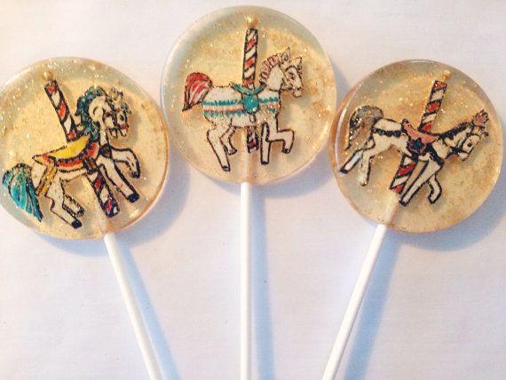 3 Caramel apple flavored lollipops with hand door asecretforest