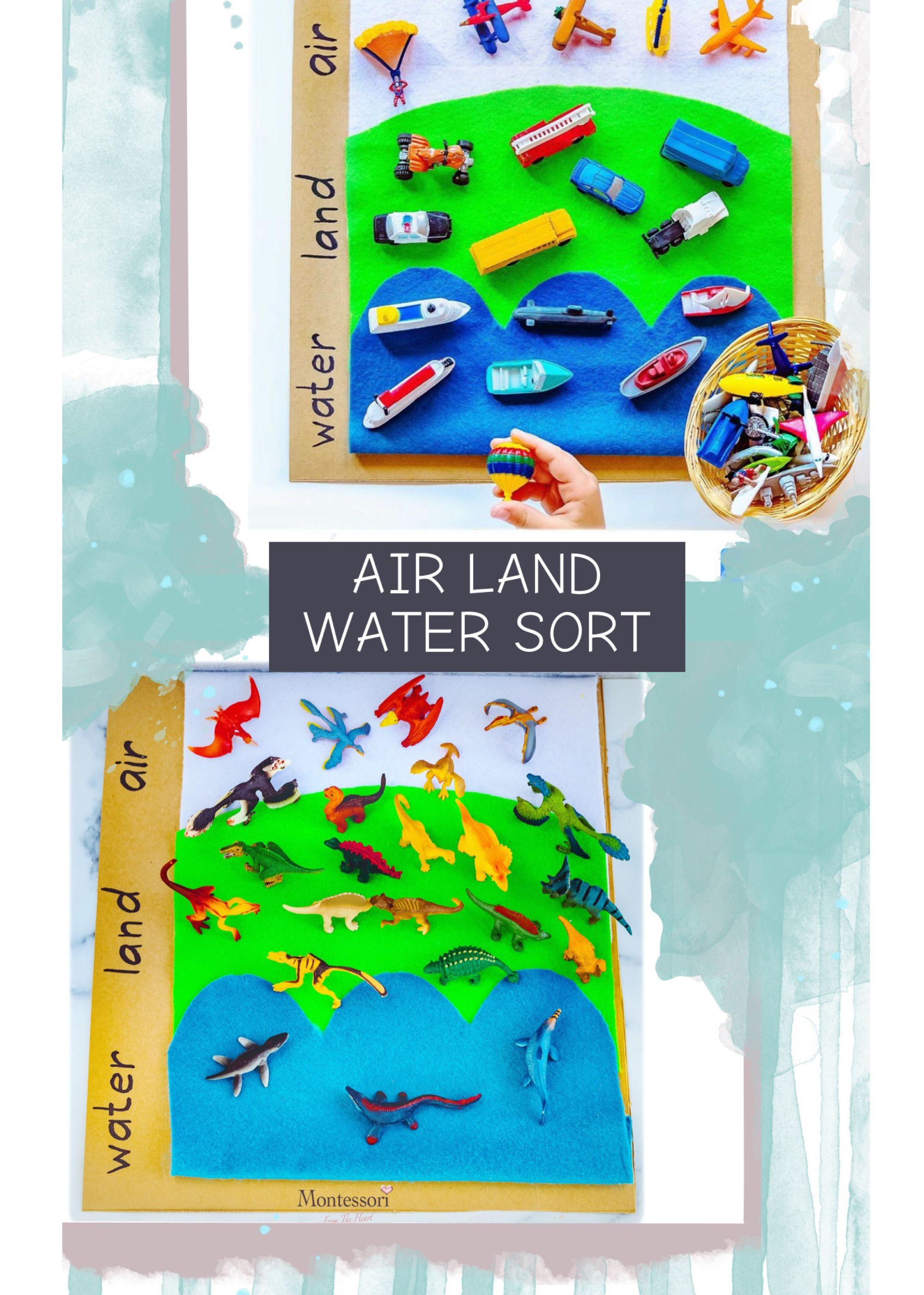 Land Water Air Transportation Animals Sort