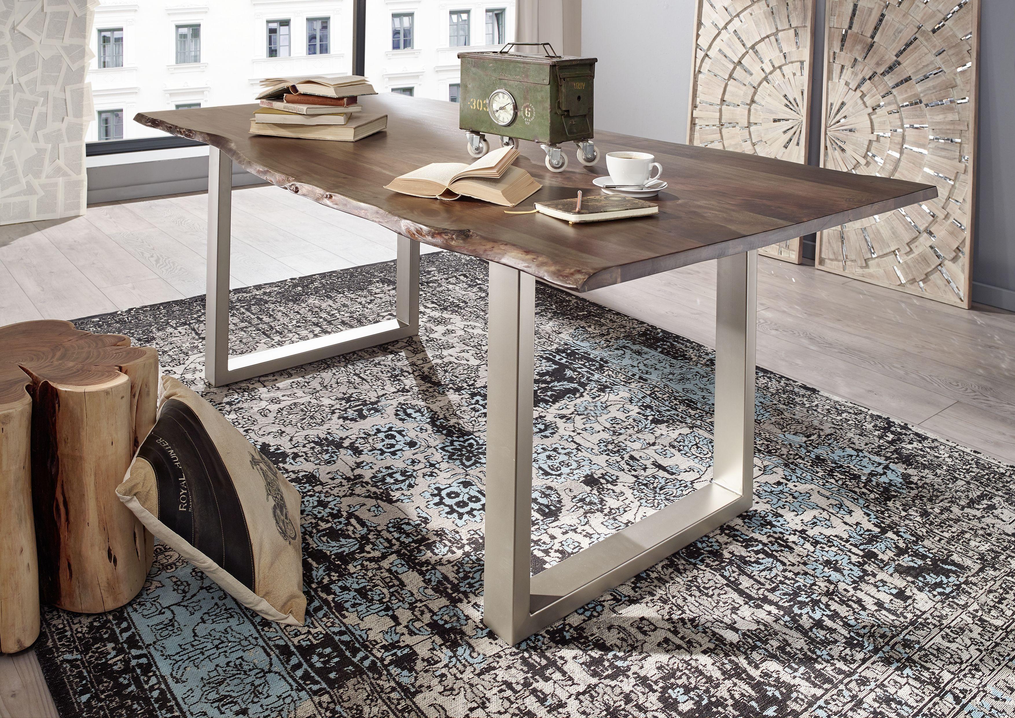 Möbel Baumkante versandfrei kaufen  Baumtisch, Holz wohnzimmer