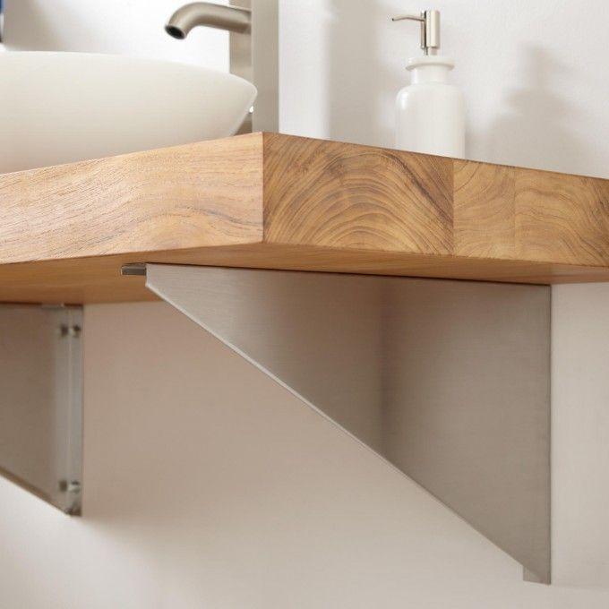 Vanity Top Support Brackets Triangular Wall Mount Sinks Bathroom Sinks Bathroom Teak Wall Wall Mounted Vanity Teak Vanity