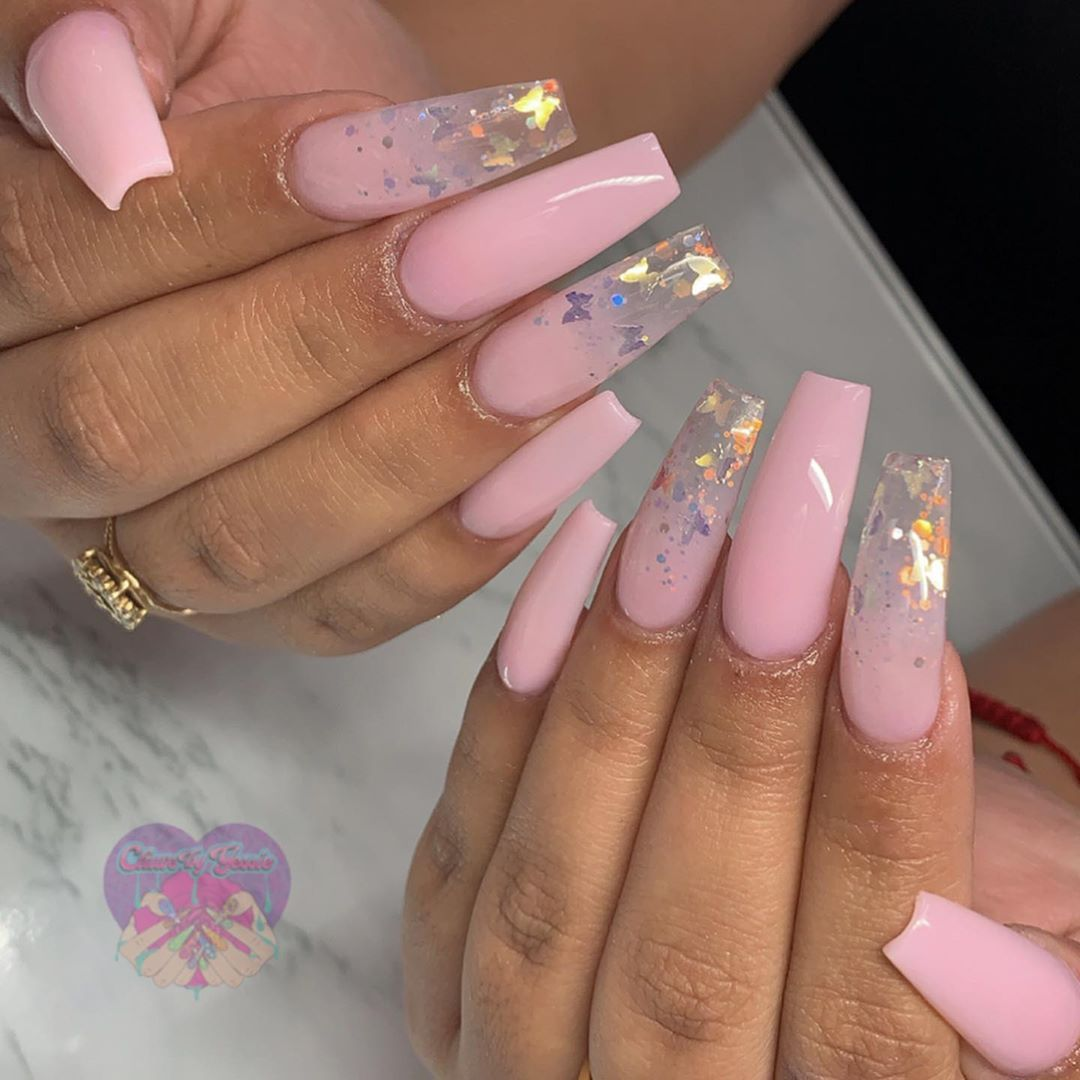 Yessica On Instagram Fly Like A Butterfly Using Vanessa Nailz Pastel In 2020 Pink Acrylic Nails Summer Acrylic Nails Acrylic Nails Coffin Short