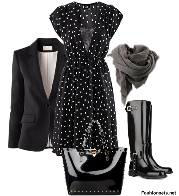 Outfits+With+Knee+High+Boots   What To Wear With Knee High Boots - Sets For Knee High Boots ...