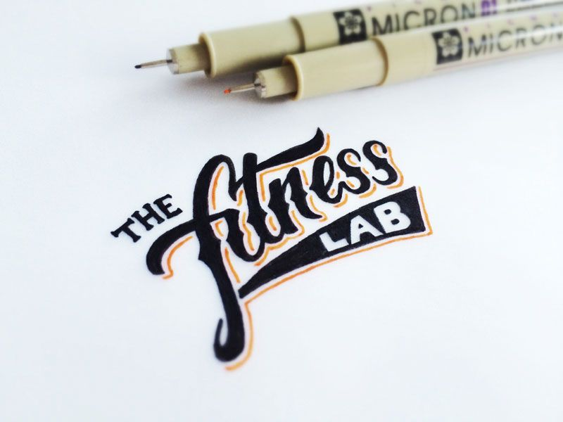 Creative gym and fitness logo designs logos calligraphy