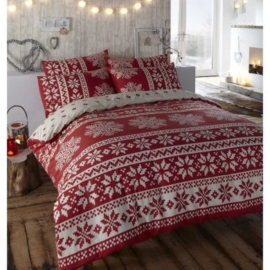 reversible fair isle duvet cover (to pair with red tartan sheets ...