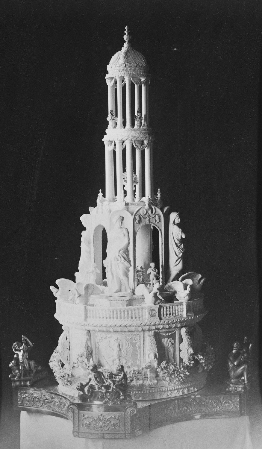 The Royal Collection: The wedding cake of the Duke and Duchess of Connaught, March 13 1879