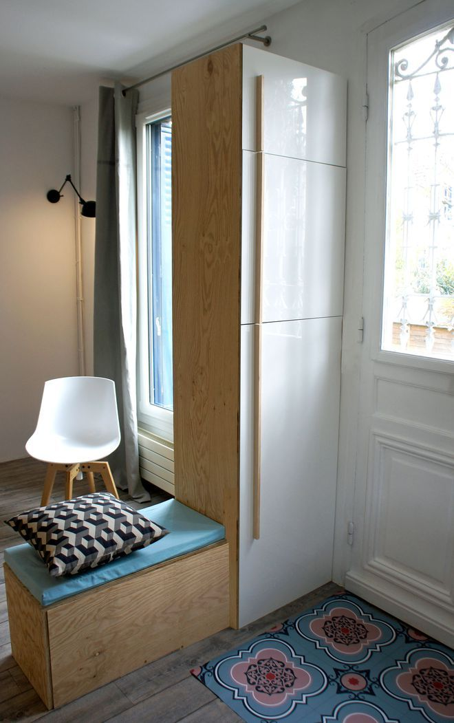 Un meuble sur-mesure à la fois cloison et rangement Ideas for the
