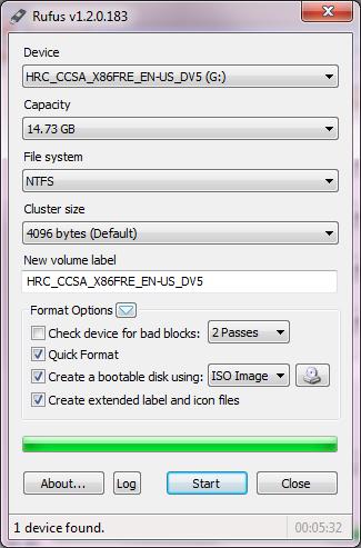 Make bootable pendrive with rufus