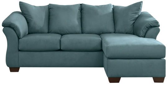 Darcy Sky Sofa Chaise Art Van Furniture Living room