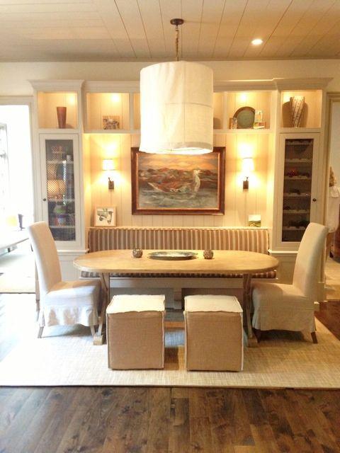 Cozy Niche In Breakfast Room With Built Wine Rack Cabinet Via Milk