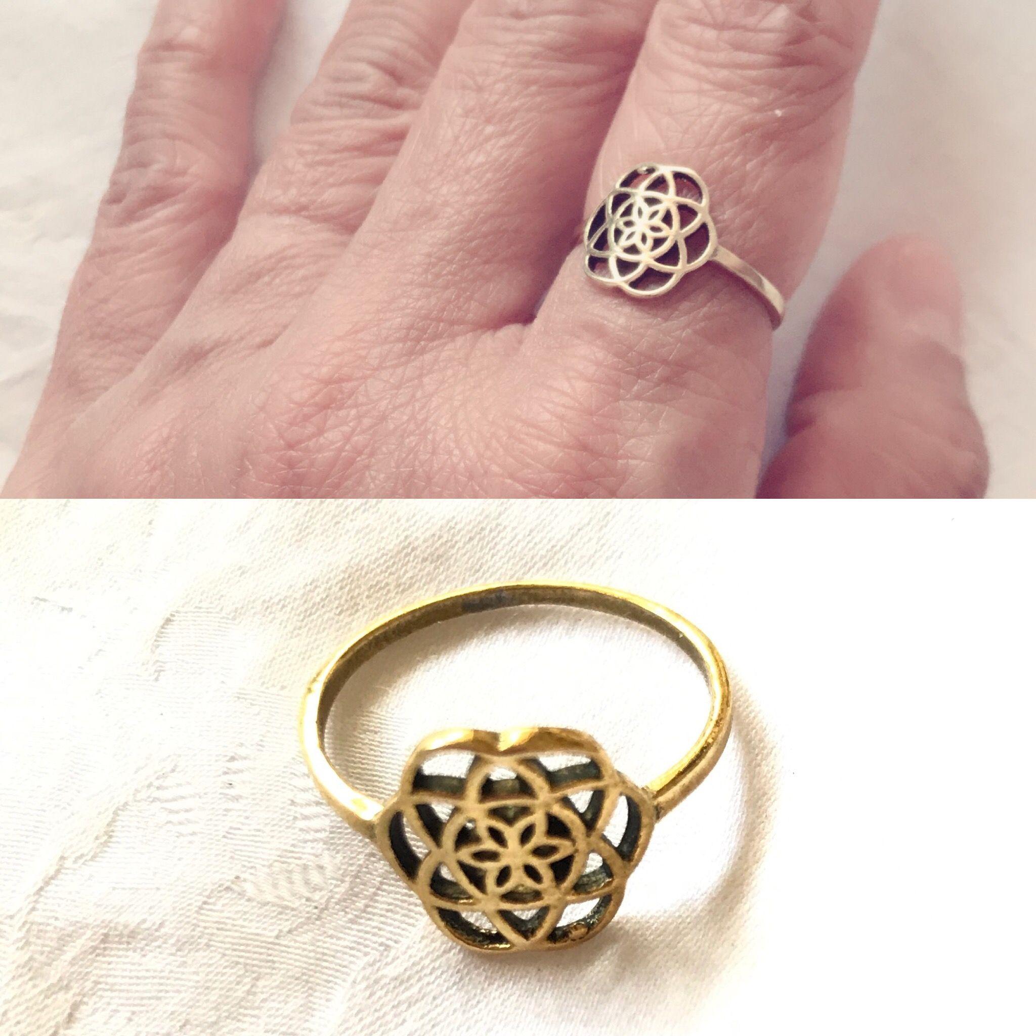Flower of life ring | Alpha Ion | Pinterest | Ring
