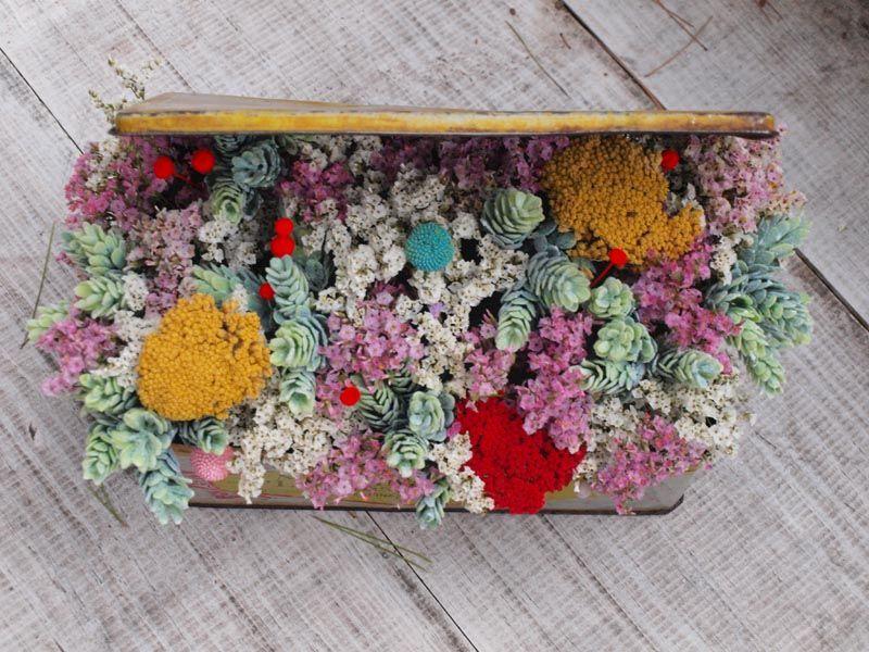 Flores secas y artificiales Flores en el columpio dried flowers - flores secas