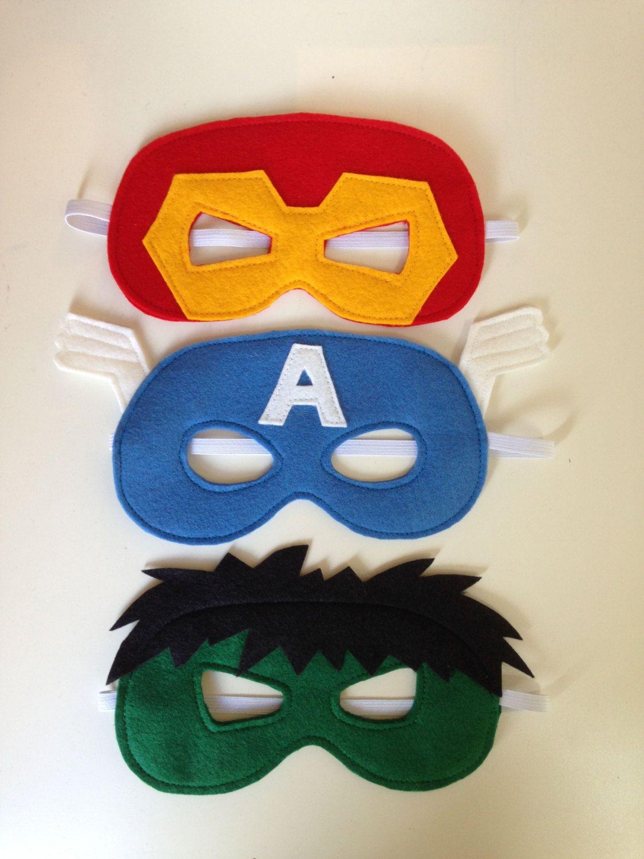 Ironman, Hulk and Captain America Felt Superhero Mask PDF Sewing ...