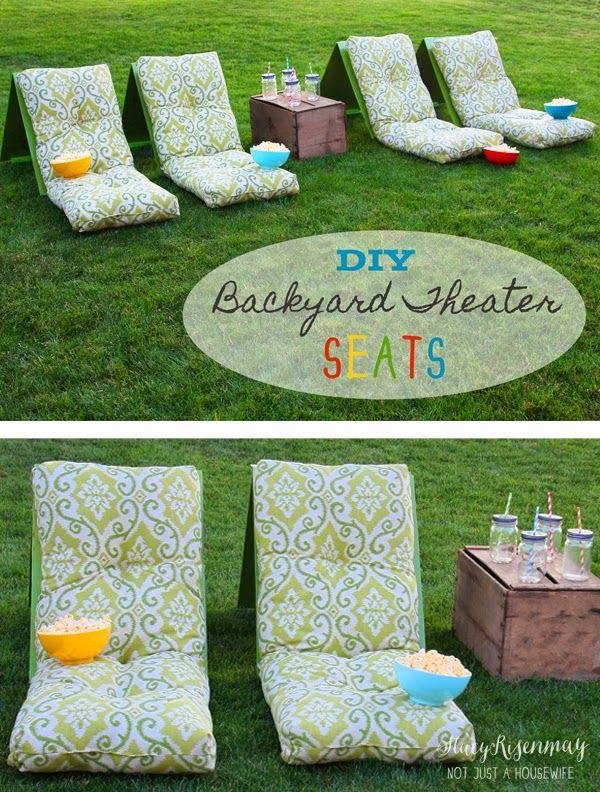 DIY Outdoor Movie Theater Seats Backyard Night PartyBackyard