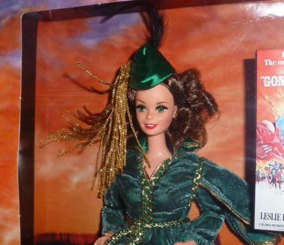 New Barbie SCARLETT in Green Drapery Dresss,  Gone With The Wind Hollywood Legends,  12045, Mattel 1994 Edition, Never Displayed, #hollywoodlegends